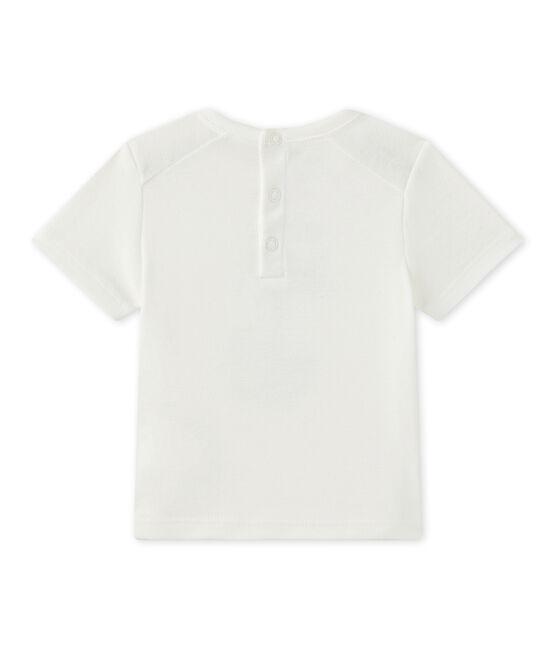 Camiseta bebé niño de manga corta blanco Marshmallow