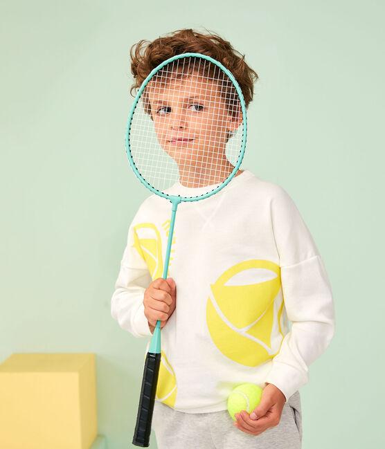 Sudadera de niño - niño blanco Marshmallow / amarillo Eblouis