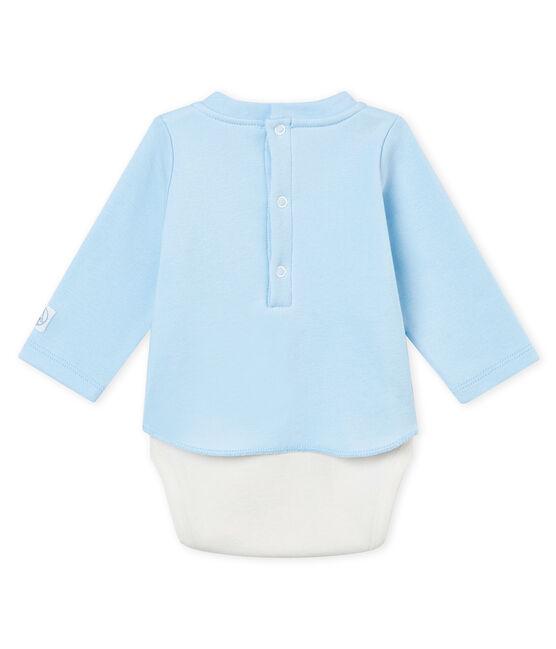 Body camiseta para bebé niño de manga larga azul Fraicheur