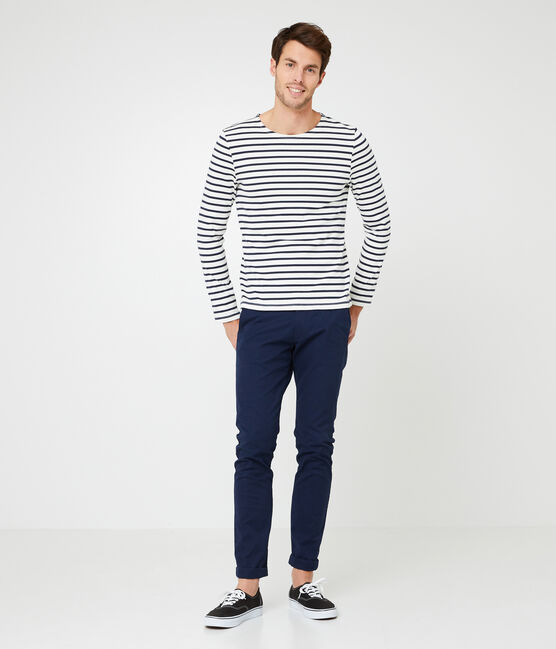 Jersey marinero icónico para hombre beige Coquille / azul Smoking