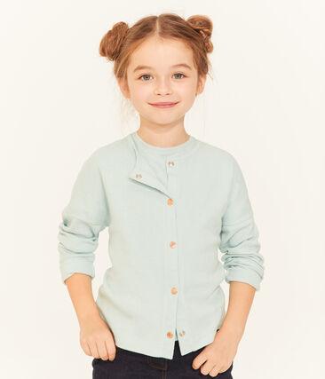 Cárdigan infantil para niña azul Crystal