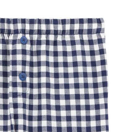Pantalón de pijama para chico blanco Lait / azul Medieval
