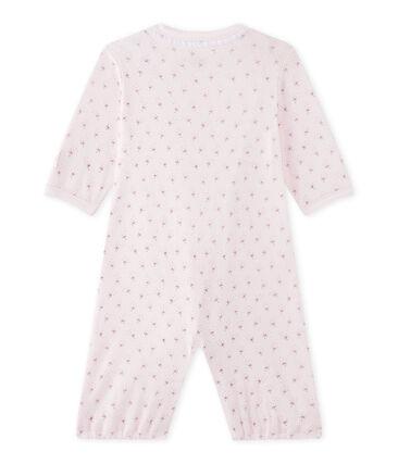 Saco bebé niña 2 en 1 rosa Vienne / blanco Multico