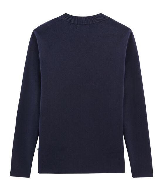 Jersey azul marino para hombre azul Smoking