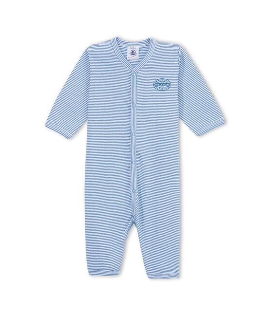 Pijama milrayas sin pies para bebé niño azul Alaska / blanco Ecume