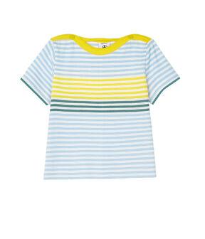 Camiseta de rayas para bebé niño blanco Marshmallow / blanco Multico