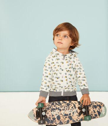Sudadera estampada con capucha y cremallera para bebé niño