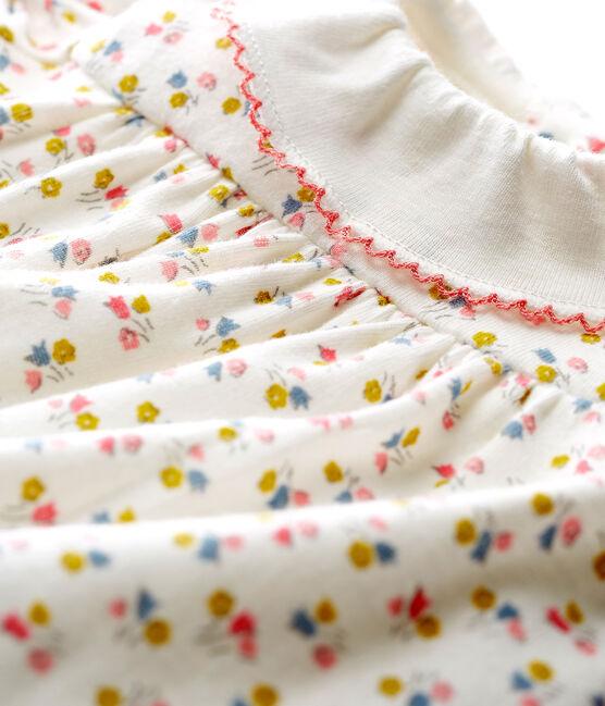 vestido body estampado para bebé niña blanco Marshmallow / blanco Multico