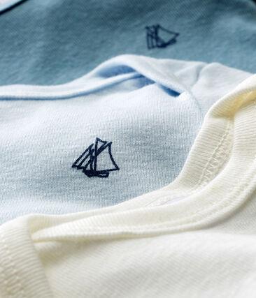 Tres bodis manga corta de algodón y lino para bebé niño