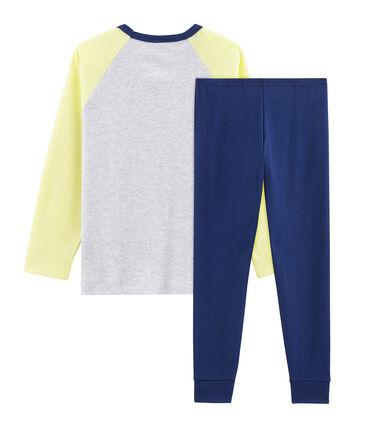 Pijama de punto para niño azul Medieval / blanco Multico