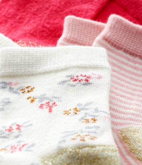 Lote de 3 pares de calcetines para bebé niña CHARME