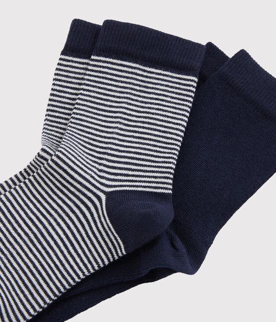 Lote de calcetines para niño azul Smoking