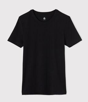 Camiseta de manga corta para hombre negro Noir