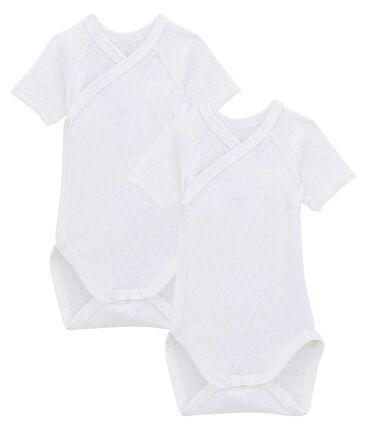 Dúo de bodis de manga corta para bebé lote .