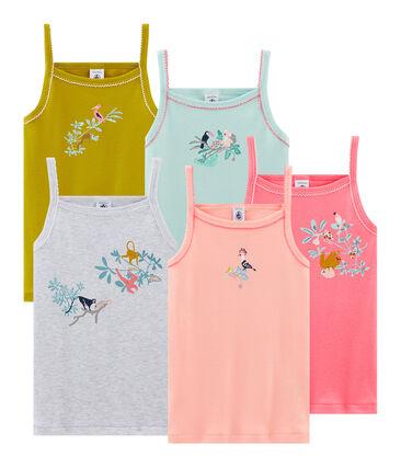 Lote de 5 camisas de tirantes para niña