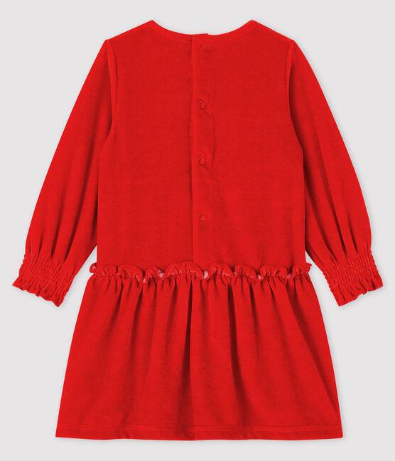 Vestido de manga larga para bebé niña rojo Terkuit