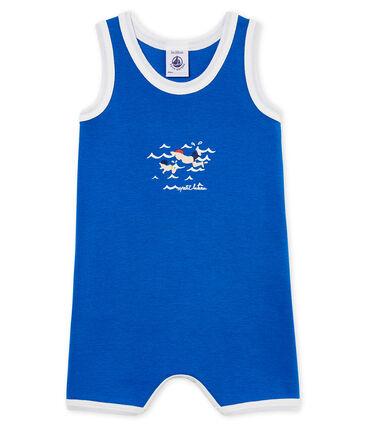 Mono corto de punto para bebé niño azul Riyadh
