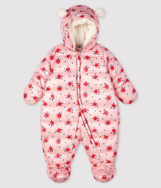 Sujetador con relleno con minicorazones para niña rosa Minois / blanco Multico