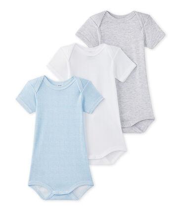 4f877377e Lote de 3 bodies de manga corta para bebé niño
