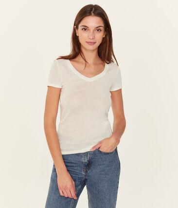 Camiseta icónica para mujer blanco Ecume