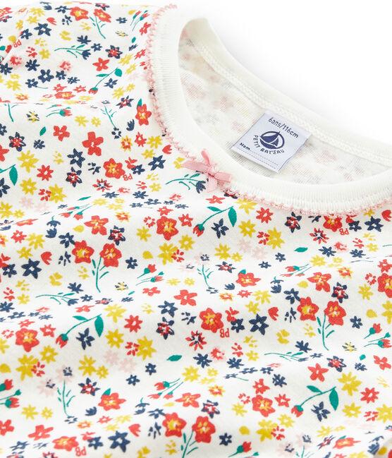 Pijama de corte muy ajustado de punto para niña blanco Marshmallow / blanco Multico