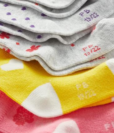Lote de 5 pares de calcetines bebé niña lote .