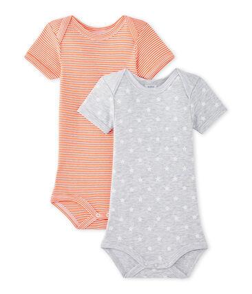 Lote de 2 bodies de manga corta para bebé niño