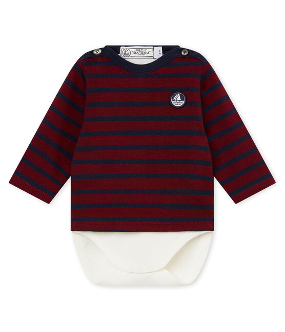 Body marinero icónico para bebé niño rojo Ogre / azul Smoking