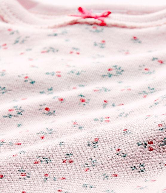 Body de manga corta estampado para bebé niña rosa Vienne / blanco Multico