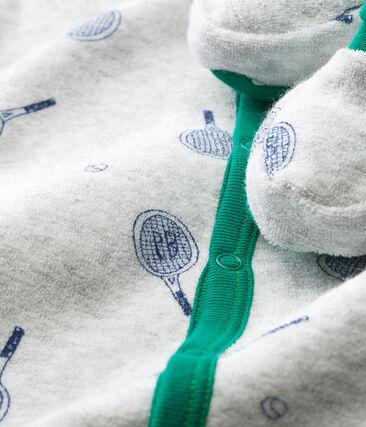 Conjunto de noche de rizo raspado extracálido para bebé niño gris Poussiere / azul Medieval