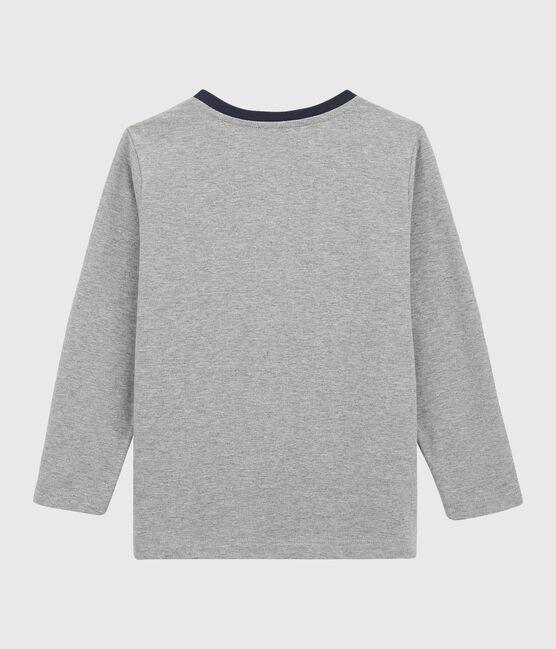 Camiseta serigrafiada para niño gris Subway