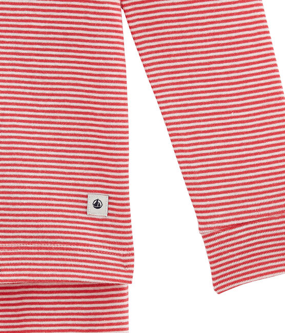 Piajama para niña corte ajustado rosa Impatience / blanco Marshmallow