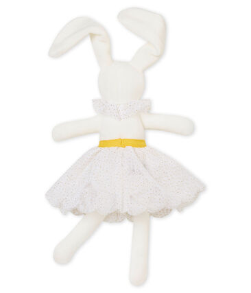 Doudou conejito bailarina blanco Marshmallow / amarillo Dore