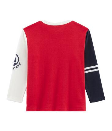 Camiseta de manga larga para niño rojo Terkuit / blanco Multico