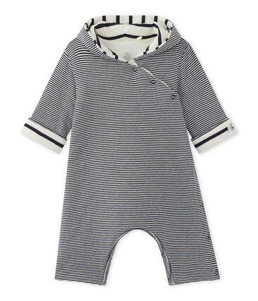 Mono con capucha milrayas para bebé