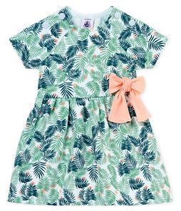 Vestido manga corta estampado para bebé niña