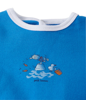 Pelele unisex para bebé azul Delphinium