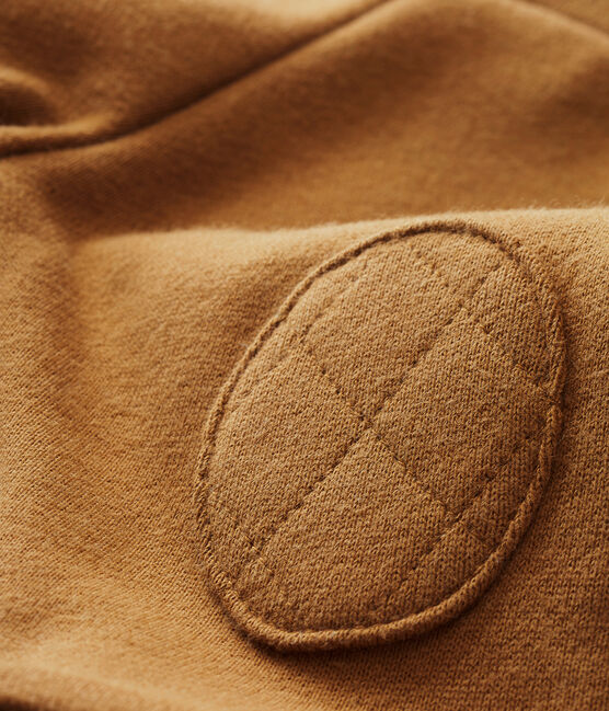 Pantalón para bebé niño en muletón marrón Brindille