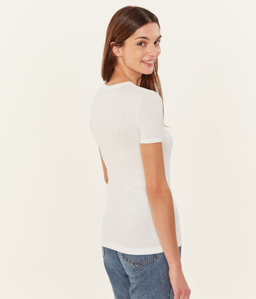 Camiseta manga corta lisa para mujer