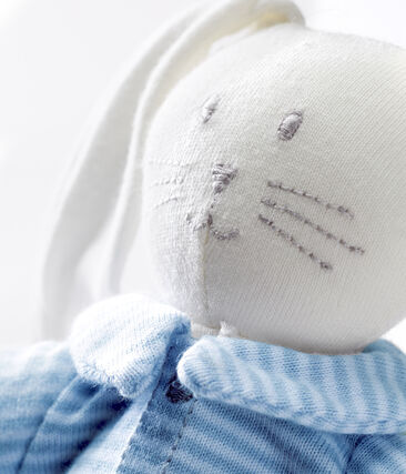 Dudú con conejito vestido azul Fraicheur / blanco Marshmallow