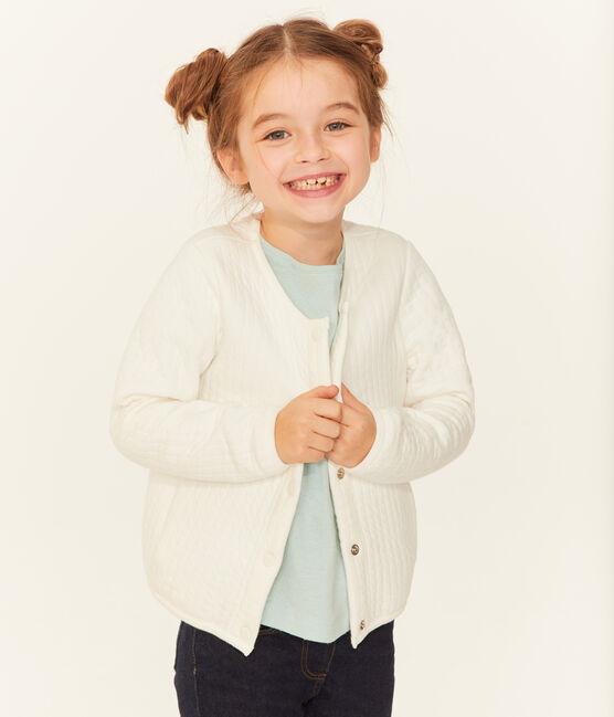 Cárdigan infantil para niña blanco Marshmallow