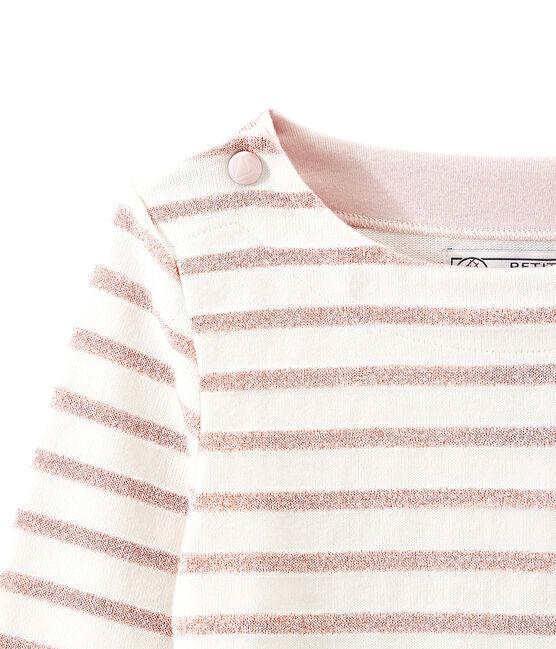 Marinera brillante para niña blanco Marshmallow / rosa Joli Brillant