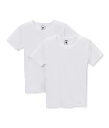 Par de camisetas manga corta para chico lote .