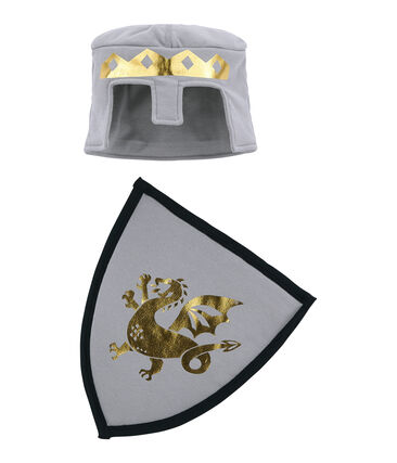 Escudo y casco para niño gris Concrete