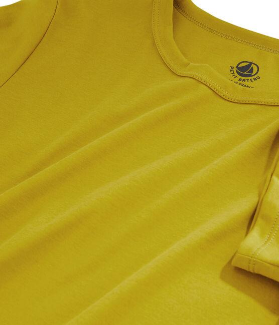 Camiseta de algodón Sea Island para mujer amarillo Bamboo
