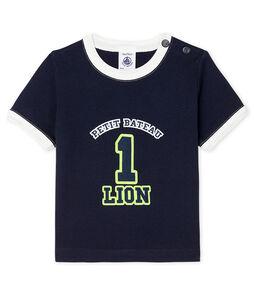 Camiseta de manga corta para bebé niño azul Smoking