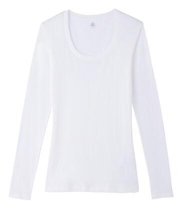 Camiseta de manga larga con cuello de bailarina de mujer