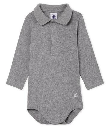 Body de manga larga con cuello de polo para bebé niño