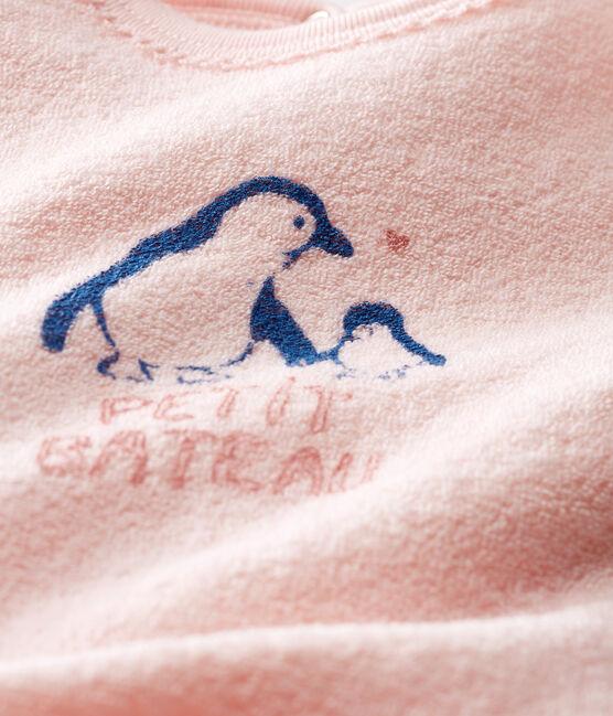Pijama extra cálido de toalla de rizo afelpado para bebé niña rosa Minois
