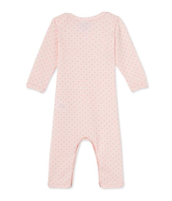 Mono corto de lana y algodón para bebé niña rosa Vienne / rosa Gretel
